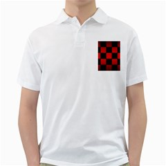 Black And Red Backgrounds Golf Shirts