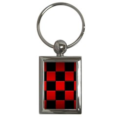 Black And Red Backgrounds Key Chains (rectangle)