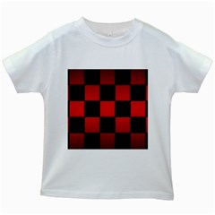 Black And Red Backgrounds Kids White T Shirts