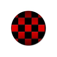 Black And Red Backgrounds Magnet 3  (round)