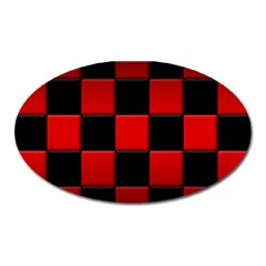 Black And Red Backgrounds Oval Magnet
