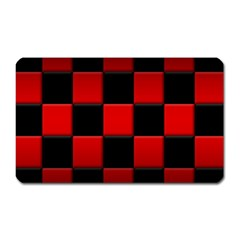Black And Red Backgrounds Magnet (rectangular)