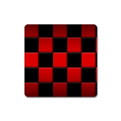 Black And Red Backgrounds Square Magnet