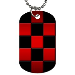 Black And Red Backgrounds Dog Tag (two Sides)