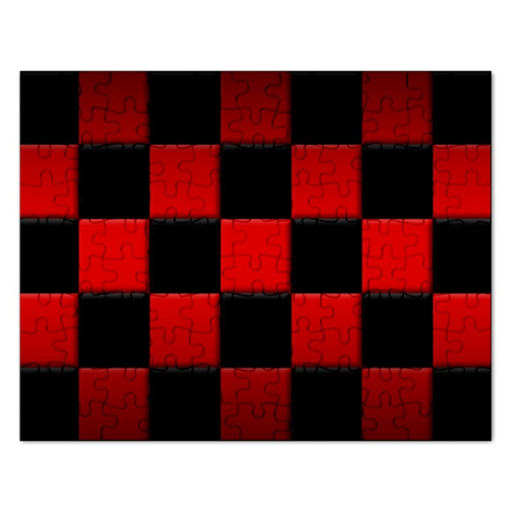 Black And Red Backgrounds Rectangular Jigsaw Puzzl