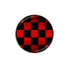 Black And Red Backgrounds Hat Clip Ball Marker