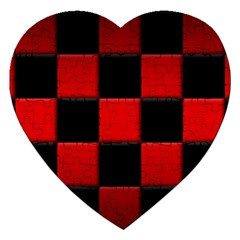 Black And Red Backgrounds Jigsaw Puzzle (heart)