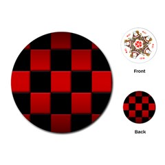 Black And Red Backgrounds Playing Cards (round)