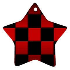 Black And Red Backgrounds Star Ornament (two Sides)