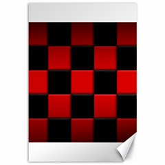 Black And Red Backgrounds Canvas 12  X 18