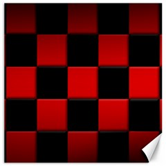 Black And Red Backgrounds Canvas 20  X 20
