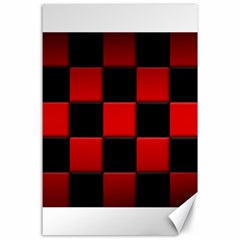 Black And Red Backgrounds Canvas 24  X 36