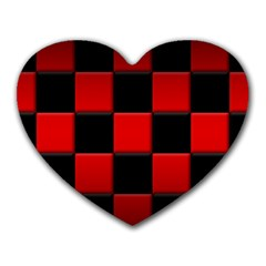 Black And Red Backgrounds Heart Mousepads