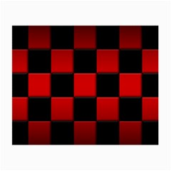 Black And Red Backgrounds Small Glasses Cloth (2 Side)