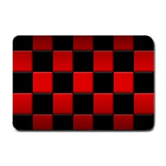 Black And Red Backgrounds Small Doormat