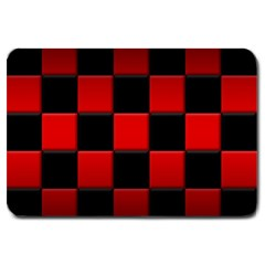 Black And Red Backgrounds Large Doormat