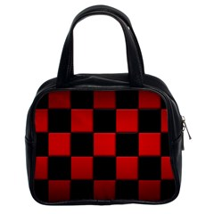 Black And Red Backgrounds Classic Handbags (2 Sides)
