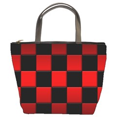 Black And Red Backgrounds Bucket Bags