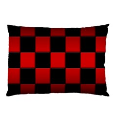 Black And Red Backgrounds Pillow Case