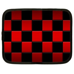 Black And Red Backgrounds Netbook Case (xxl)