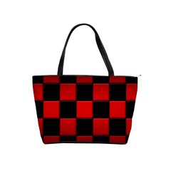 Black And Red Backgrounds Shoulder Handbags