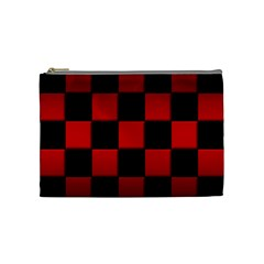 Black And Red Backgrounds Cosmetic Bag (medium)