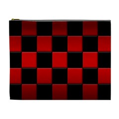 Black And Red Backgrounds Cosmetic Bag (xl)