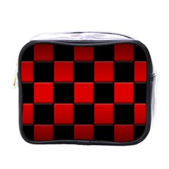 Black And Red Backgrounds Mini Toiletries Bags