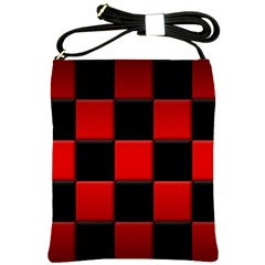 Black And Red Backgrounds Shoulder Sling Bags