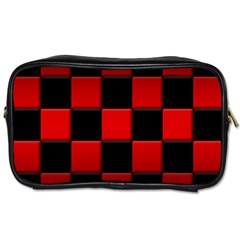 Black And Red Backgrounds Toiletries Bags 2 Side