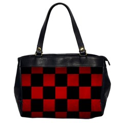 Black And Red Backgrounds Office Handbags