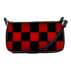 Black And Red Backgrounds Shoulder Clutch Bags