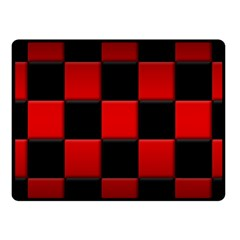 Black And Red Backgrounds Fleece Blanket (small)