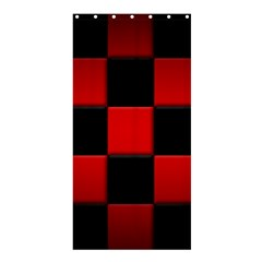 Black And Red Backgrounds Shower Curtain 36  X 72  (stall)