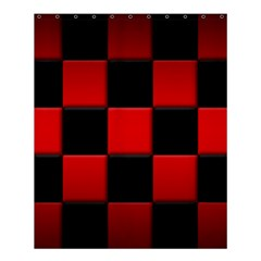 Black And Red Backgrounds Shower Curtain 60  X 72  (medium)