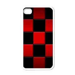 Black And Red Backgrounds Apple Iphone 4 Case (white)