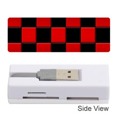 Black And Red Backgrounds Memory Card Reader (stick)