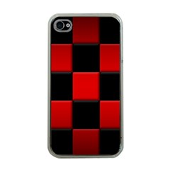 Black And Red Backgrounds Apple Iphone 4 Case (clear)