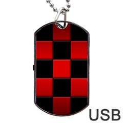 Black And Red Backgrounds Dog Tag Usb Flash (two Sides)