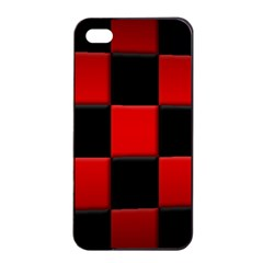 Black And Red Backgrounds Apple Iphone 4/4s Seamless Case (black)