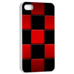 Black And Red Backgrounds Apple Iphone 4/4s Seamless Case (white)