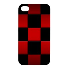 Black And Red Backgrounds Apple Iphone 4/4s Hardshell Case