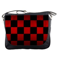 Black And Red Backgrounds Messenger Bags