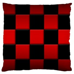 Black And Red Backgrounds Large Cushion Case (one Side)