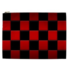 Black And Red Backgrounds Cosmetic Bag (xxl)
