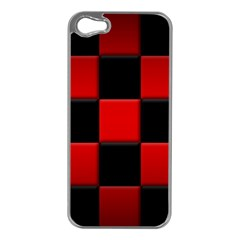 Black And Red Backgrounds Apple Iphone 5 Case (silver)