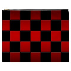 Black And Red Backgrounds Cosmetic Bag (xxxl)
