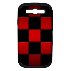 Black And Red Backgrounds Samsung Galaxy S III Hardshell Case (PC+Silicone)