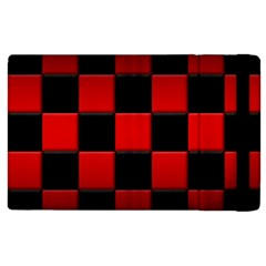 Black And Red Backgrounds Apple Ipad 2 Flip Case