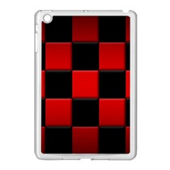 Black And Red Backgrounds Apple Ipad Mini Case (white)